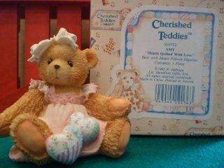 "Cherished Teddies ""Amy""  Hearts Quilted With Love: Toys & Games"