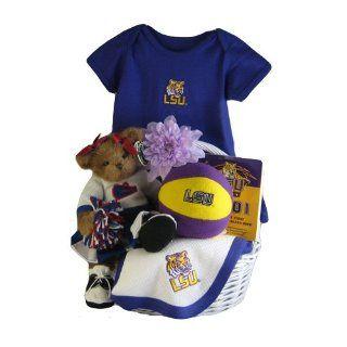 LSU Baby Girl Gift Basket ***TOUCHDOWN  Baby
