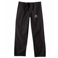 Gelscrub Unisex Black Ohio State Buckeye Scrub Pants College Themed