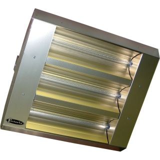 TPI Indoor/Outdoor Quartz Infrared Heater — 25,298 BTU, Stainless Steel, Model# 343-90-THSS-208V  Electric Garage   Industrial Heaters