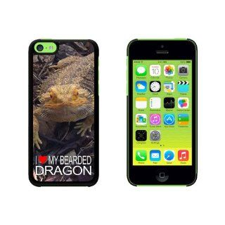 I Love Heart My Bearded Dragon   Beardie Lizard Reptile Snap On Hard Protective Case for Apple iPhone 5C   Black: Cell Phones & Accessories