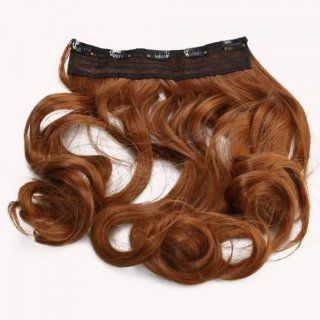 Fast shipping + Free tracking number, 23.6 inch Curly Wig Hair Extension with Clip Golden Brown Wigs Elegant Beauty Accessory for Women Girl Lady  Beauty