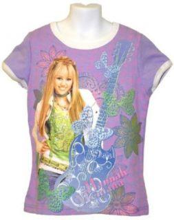 Hannah Montana Little Girls Sparkle Lavender T shirt (7/8) Apparel Accessories Clothing