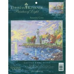 "Thomas Kinkade Serenity Cove Counted Cross Stitch Kit 14""X10"" 14 Count MCG Textiles Cross Stitch Kits"