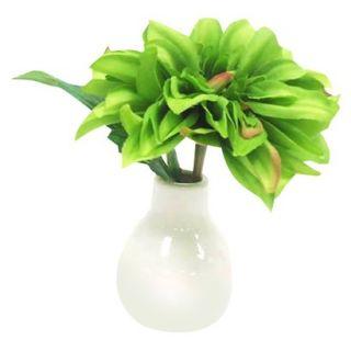 Faux Green Dahlia Floral Arrangement 6