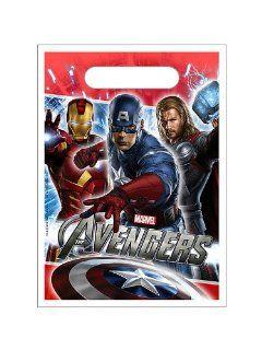 Marvel The Avengers Super Hero Treat Sacks 8pk : Childrens Party Favor Sets : Baby
