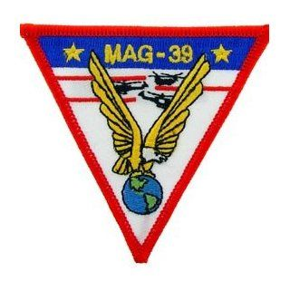 USMC Marine Corps Military Embroidered Iron On Patch   MAG 39 Eagle Globe Applique: Clothing