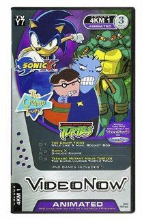 Videonow Personal Video Disc 3 Pack Sonic X, The Cramp Twins, and Teenage Mutant Ninja Turtles Toys & Games