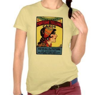 Halloween Retro Vintage Fortune Telling Cards Tshirts