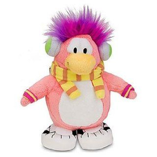 "Super RARE Cadence   Disney Club Penguin 6.5"" Plush Doll + Coin to Unlock 2 Treasure Book Items of Your Choice Toys & Games"