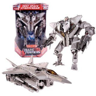 Hasbro Year 2007 Series 1 Transformers Movie Exclusive Limited Edition Voyager Class 7 Inch Tall Action Figure   Decepticon Deep Space STARSCREAM with Metallic Finish Plus Missile Launchers and 6 Missiles (Vehicle Mode F 22 Raptor Fighter Jet) Toys &