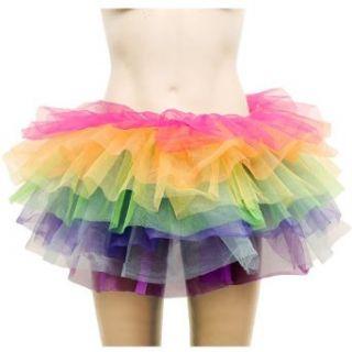 Sexy Pfaurock Pfau Damen TUTU Tuetue MIni Tuetue Rock Petticoat Ballett Kleid Pettiskirt Unterrock Maedchenrock farbig Dance Go Go Girl Vintage 50er 60er: Bekleidung