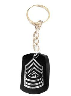 Army Military Officer Rank Sargeant Major Logo Symbol   Metal Ring Key Chain Keychain