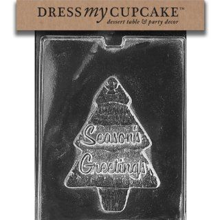 Dress My Cupcake DMCC093A Chocolate Candy Mold, Tree Box Top, Christmas Kitchen & Dining