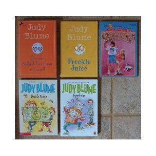 Judy Blume Collection Set of 5 Books (Double Fudge ~ Superfudge ~ Freckle Juice ~ Otherwise Known as Sheila the Great ~ Starring Sally J. Freedman as Herself) Judy Blume Books