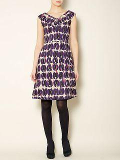 MaxMara Aereo sleeveless printed shift dress Purple