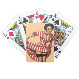 Candy Striper Pin Up Bicycle Card Decks