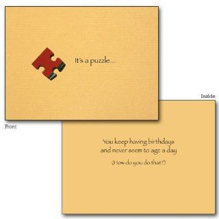 IT'S A PUZZLE BIRTHDAY CARD   JCB BN 0221: Everything Else