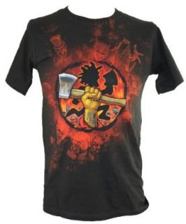 Insane Clown Posse ICP (Violent Jay and Shaggy 2 Dope) Mens T Shirt   Hold Your Hatchets High Image (Small): Clothing