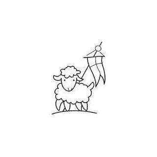 Motivstempel * Bilderstempel * Stempel * Kommunion / Konfirmation Lamm mit Banner * 656413 a: Küche & Haushalt
