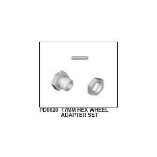 Rad Mitnehmer 17mm, Grob Gewinde, Alu inkl. Mutter & Pin (2): Spielzeug