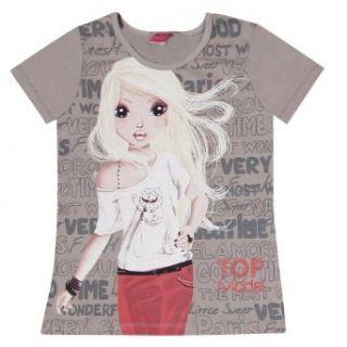 Top Model M�dchen T Shirt 85079, Gr. 128, Grau (243 ash) Bekleidung