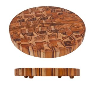 Proteak End Grain Round Cutting Board with Legs Proteak� Cutting Boards
