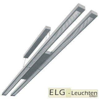 PL 254 D E (Twin) Pendelleuchte, Deckenleuchte, B�roleuchte 2x54W   direkter und indirekter Lichtanteil mit Prismatischer Plexiglasabdeckung und elektronischem Vorschaltger�t Beleuchtung