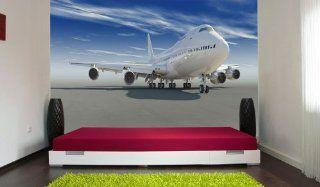 Fototapete Startendes Flugzeug KT259 Gr��e 420x270cm Tapete Technik Flugzeug Boarding Küche & Haushalt