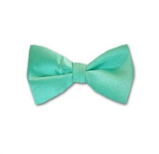 Tiffany Blue Solid Color Self Tie Bow Tie at  Men�s Clothing store