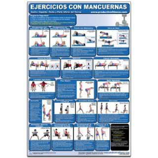 Ejercicios con Mancuernas   Centro/Espalda/pecho y parte inferior del Cuerpo   Cartel   Dumbbell Exercises Lower Body/Core/Chest and Back (Spanish Edition) CDLL SP (Poster): Andre Noel Potvin, Michael Jespersen, Michael Hutchison: 9781926534251: Books