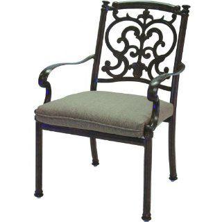 Darlee Santa Barbara Cast Aluminum Patio Dining Chair   Mocha  Patio, Lawn & Garden