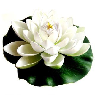 LOVELY Floating Water Lily/Lotus Flowers WHITE Code 1004   Desk Clocks