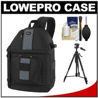 Lowepro Slingshot 302 AW Digital SLR Camera Backpack Case (Black) + Tripod + Accessory Kit for Canon EOS 70D, 6D, 5D Mark III, Rebel T3, T5i, SL1, Nikon D3100, D3200, D5200, D7100, D600, D800, Sony Alpha A65, A77, A99  Camera & Photo