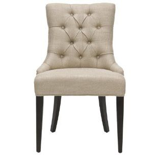 Shop Safavieh Mercer Collection Erica Button Tufted Side Chair, Khaki Grey at the  Furniture Store. Find the latest styles with the lowest prices from Safavieh