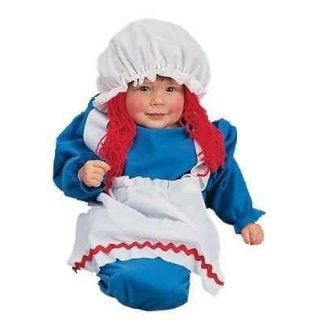 Baby 0 6 Months   Raggedy Anne Rag Doll Baby Costume Bunting Clothing