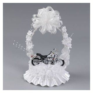 HARLEY DAVIDSON Motorcycle Bike Hog Wedding Cake Topper Ornament Arch 310 Health & Personal Care
