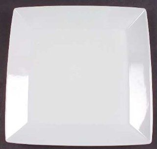 Thomas Loft White Square Dinner Plate, Fine China Dinnerware: Kitchen & Dining