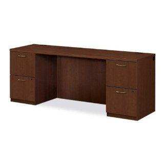 "HON Company Products   Kneespace Credenza, 72""x24""x29"", Shaker Cherry   Sold as 1 EA   Park Avenue Laminate Collection offers an upscale design with clean, uninterrupted lines, tri oval edge detail, vertically matched woodgrain and mixed mat"
