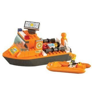 Hohong   Children Intellect training / Smart Thinking Training Plastic Blocks   SRS Emergency Rescue Teams First Aid Boat: Toys & Games