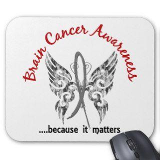 Grunge Tattoo Butterfly 6.1 Brain Cancer Mousepad