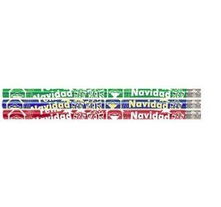 D1069 Feliz Navidad   36 Spanish Merry Christmas Pencils : Wood Lead Pencils : Office Products