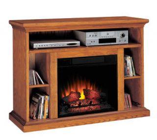 Beverly Media Electric Premium Oak Finish Fireplace —