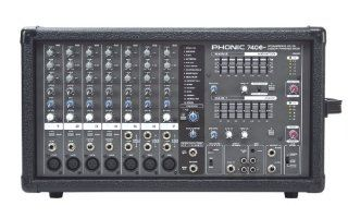 Phonic Powerpod 740 Plus 440W 7 Channel Powered Mixer with DFX Musical Instruments