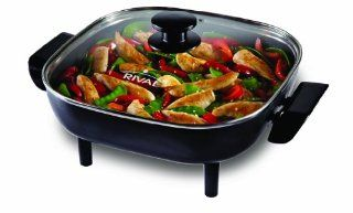 Rival CKRVSK11 11 Inch Square Electric Skillet, Black: Kitchen & Dining