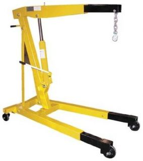 """Bear Claw Shop Crane Engine Hoist Non Foldable Telescopic Legs; Capacity 4, 000; Boom Length 60""""; Boom Height 16 11/16"""" to 88 3/16""""""""; Overall Size (W x L) 31 3/4"""" x 54 1/2""""; Leg Extension 18 1/2""""; Net Wt. (lbs.) 340"""