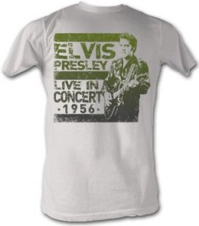 Elvis Presley T shirt In Concert 1956 Retro Vintage White Tee Shirt Clothing
