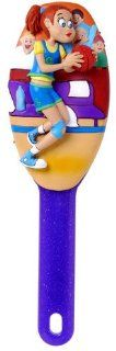 K.C., Herdoo's Whimsical And Handpainted 3 D Character Cushioned Hairbrush For Child And Preteen Hair Care : Beauty