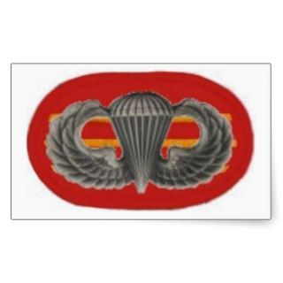 Jump Wings on 3D Bn 319TH F/A Oval Stickers