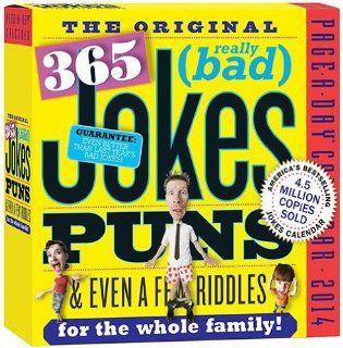 ORIGINAL 365 (really bad) Jokes, Puns, & Riddles   2014 desk calendar   Office Desk Pad Calendars